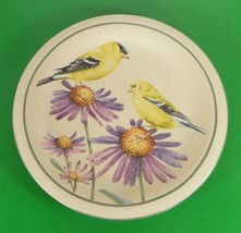 Lenox Summer Greetings GOLDFINCH Salad Dessert Plate Catherine McClung - $12.86