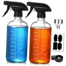 16oz Clear Glass Spray Bottles with Measurements - Empty Reusable Clear - $27.23