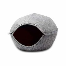 VistosoHome Felt Cat Cave Bed with Detachable & Collapsible Zipper Top -... - £23.16 GBP
