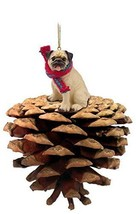 Conversation Concepts Pug Fawn Pinecone Pet Ornament - $16.99