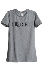 Thread Tank Local Louisiana State Women's Relaxed T-Shirt Tee Heather Grey - $24.99+