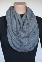 NEW Cejon DW49348 Gray Charcoal Women's Neck Infinity Scarf 23x35 - $10.88