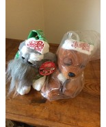 2 New - 2014 PEPSI COLA Plush Stuffed Dog's Boyd Gaming Christmas Sealed... - $19.95