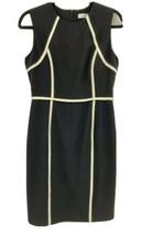 Calvin Klein Women 6 Color Block Sheath Dress Black White Sleeveless Car... - $32.51
