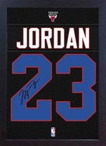 Michael Jordan Chicago Bulls signed autograph Framed printed 100% COTTON... - $20.46