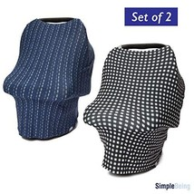 Simple Being Nursing Cover Up for Baby Breastfeeding 2 Pack, 4 in1 Multi... - $25.98