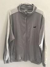 Puma Lightweight Jacket Men's SZ XL Polyester Malaysia Long sleeve Gray White - $20.90