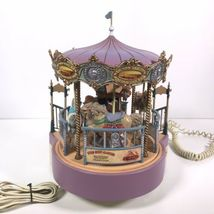 Great American Musical Merry Go Round Carousel Corded Novelty Phone Wind Up image 6