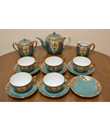Vintage Nippon Hand Painted Tea Set Pot Creamer Sugar Bowl Cups Saucers Morimura - $399.95