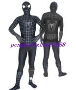 BLACK SPIDERMAN HERO SUIT CATSUIT COSTUMES UNISEX HALLOWEEN COSPLAY SUIT S253