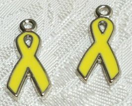 AWARENESS RIBBON FINE PEWTER PENDANT CHARM - 1.5x19x9mm = YOU CHOOSE COLOR image 6