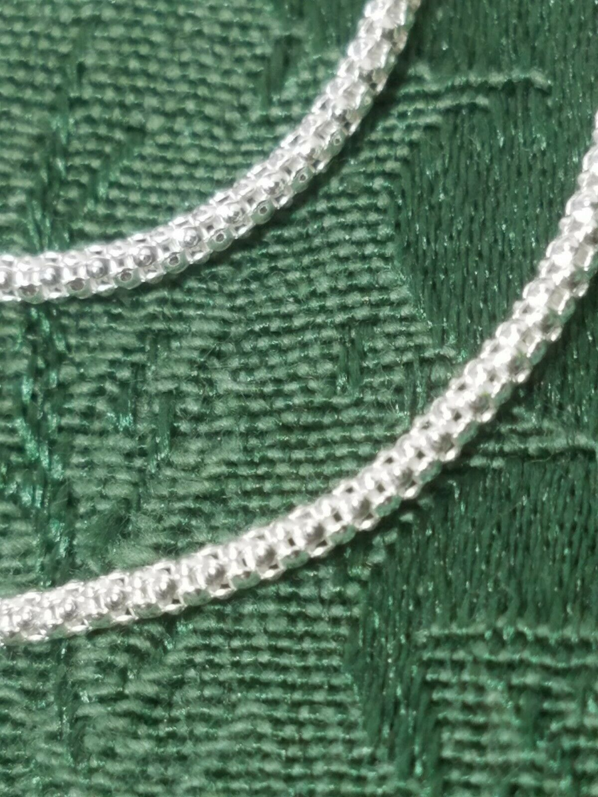 "16"" Popcorn Chain 180 Sterling Silver Necklace 3.44 Grams Width: 1.3 Mm"