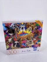 "Jason Taylor Drama Llama Puzzle Milton Bradley 300 Pieces MB 24"" x 18"" - $9.49"