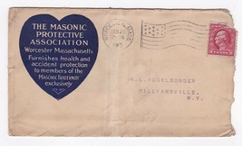 THE MASONIC PROTECTIVE ASSOCIATION WORCESTER MASS JANUARY 29 UNKNOWN YEAR - $2.98