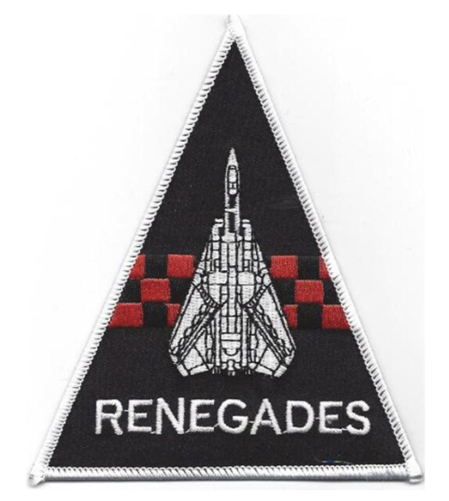"Primary image for 5"" NAVY VF-24 F-14 TRIANGLE RENEGADES EMBROIDERED PATCH"