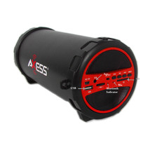 Axess Portable Bluetooth Indoor/Outdoor Hi-Fi Cylinder Loud Speaker with... - $72.83 CAD