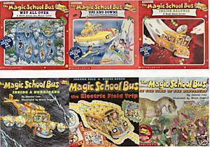 6)MAGIC SCHOOL BUS:ELECTRIC;GERMS;WATER;DINOSAURS;WEATH