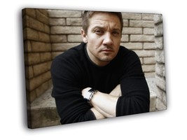 Jeremy Renner Portrait Movie Actor Framed Canvas Print - $14.96+