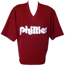 Philadelphia Phillies Majestic Cooperstown Collection Maroon Jersey Size 2XL - $106.65