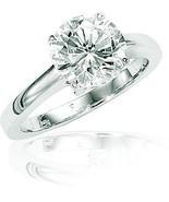 BIG DIAMOND!!! 1.91 CT ROUND ENGAGEMENT RING 14K WHITE - $8,161.74