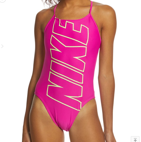 NEW Nike Women's Nike Logo Cut Out One Piece Swimsuit size 36 NESS8074DS