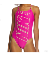 NEW Nike Women's Nike Logo Cut Out One Piece Swimsuit size 36 NESS8074DS - £35.19 GBP