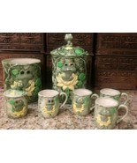 9 pc. Lot NEIL THE FROG? Hand crafted in Ceramic Class 1977 Canisters Cu... - $29.69