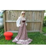 Vintage Gunne Sax Prairie Maxi Dress Boho Hippi... - $175.00