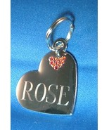 Large Heart with Red Crystals Pet ID Tag - 2 Si... - $14.95