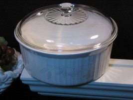 Corning Ware Pink Trio French White Round Casserole Vintage Bakeware Coo... - $48.99
