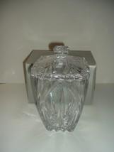 Gorham Lead Crystal Esprit Biscuit Barrel in box - $39.99