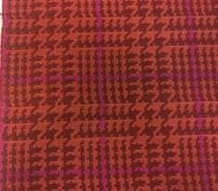 Maharam Houndstooth by Paul Smith Upholstery Fabric Peony 466253–004 1.2... - $59.38