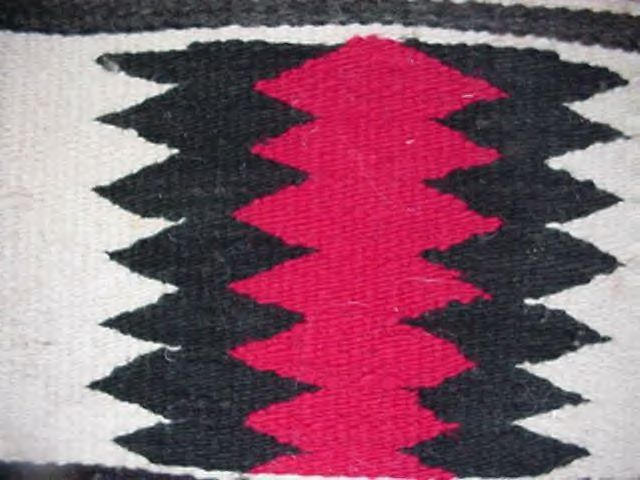 "Small Old Navajo Indian Rug Blanket 12"" x 11"" Weaving"