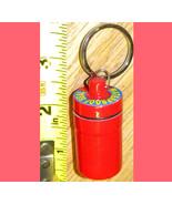 Pill box trinket snuff box & key ring chain collectible  - $6.99