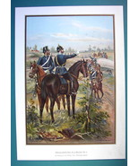 GERMAN ARMY 9th Battalion Military Train Schleswig Holstein - COLOR Lith... - $14.85