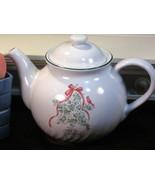 Vintage Corelle Callaway Holiday Teapot  6 Cup CorningWare Christmas - $24.99