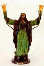 "32""H ""Sacred Heart"" Distinctive Classical Solid Bronze Sculptural Lamp b... - $1,465.10"