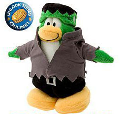Disney Club Penguin LE Plush Series 4 Frankenpenguin Brand NEW!