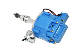 SBF Ford Small Block 260 289 302 HEI Ignition Blue Cap Distributor w/ 65K Coil image 3
