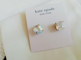Kate Spade New York Mini Small Square Semiprecious Stone Stud Earrings - $21.77