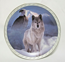 """Bradford Exchange """"United In Spirit"""" Masters Land Sky Wolf and Eagle Pla... - $9.99"""