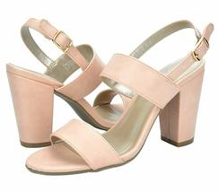 01 U Mid STELLA Dust Women's Heel Pump 9 M Toe Pink Chunky TOETOS Sandals Open ZwHaqE