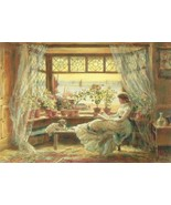 Postcard Reading By The Window Hastings Charles... - $4.99