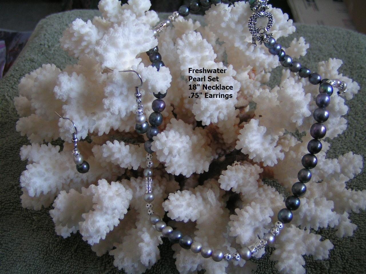 2PC Freshwater Pearl Set Free Shipping