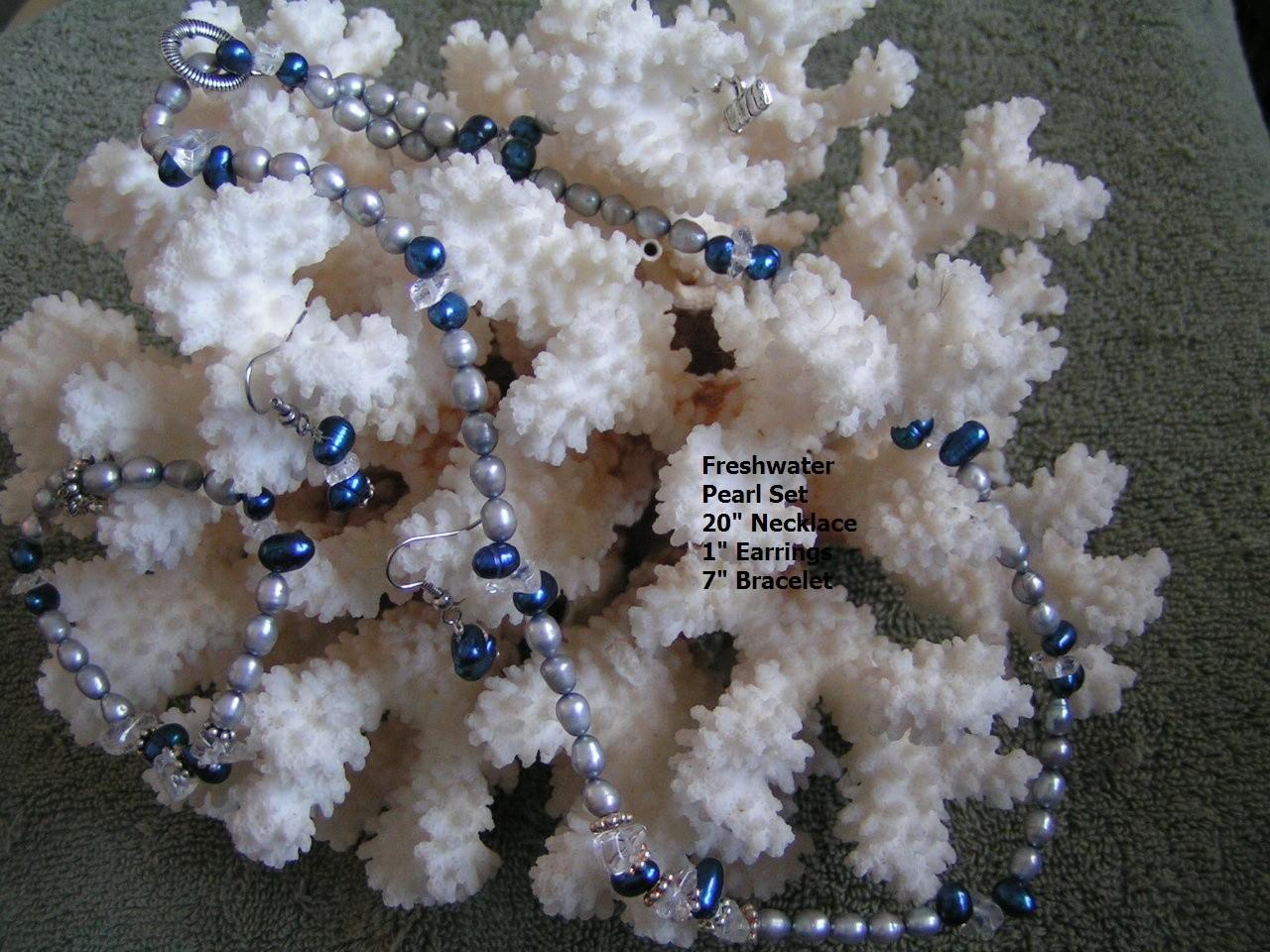 3PC Freshwater Pearl Set Free Shipping