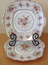 Royal Albert Petit Point 2 Double Handled Square Cake Plate Needlepoint ... - $28.01