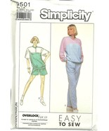Simplicity Sewing Pattern 9501 Misses Womens Sweat Suit Top Pants Shorts... - $9.98