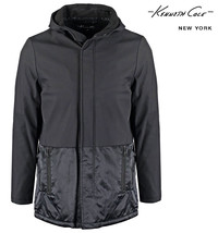 NEW KENNETH COLE NEW YORK SHERPA LINED HOODED BLACK COMBO JACKET 2XL $298 - $59.49