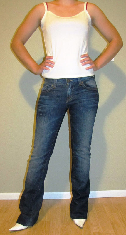 NWOT NEW YORK & COMPANY LOW RISE STRETCH BOOTCUT DENIM JEANS,SZ 0 25,DARK WASH