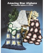 HARDCOPY Crochet Pattern Leaflet AMAZING STAR AFGHANS Unique Crochet Sta... - $4.99